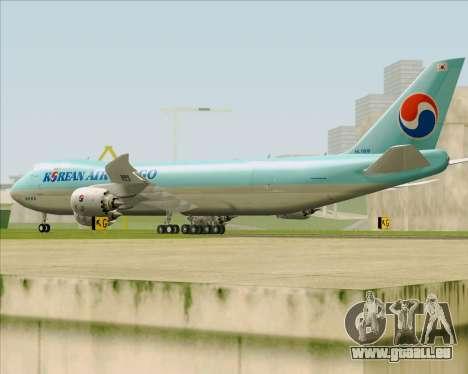 Boeing 747-8 Cargo Korean Air Cargo pour GTA San Andreas vue de droite