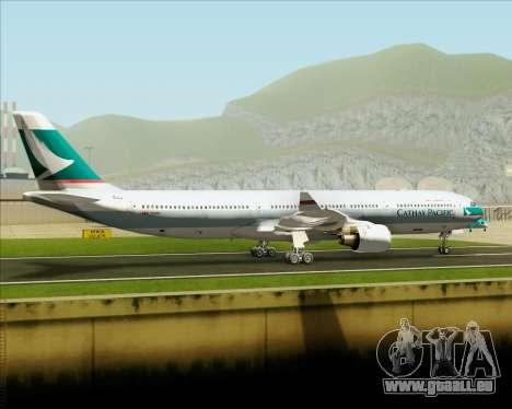 Airbus A330-300 Cathay Pacific für GTA San Andreas Innenansicht