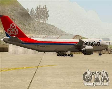 Boeing 747-8 Cargo Cargolux pour GTA San Andreas vue de droite