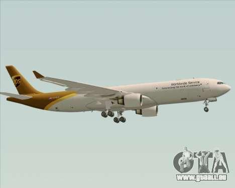 Airbus A330-300P2F UPS Airlines für GTA San Andreas zurück linke Ansicht