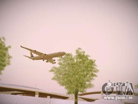 Airbus A340-300 South African Airways pour GTA San Andreas vue de côté