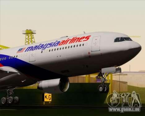 Airbus A330-323 Malaysia Airlines für GTA San Andreas Seitenansicht