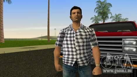 Kockas polo - feher T-Shirt für GTA Vice City zweiten Screenshot