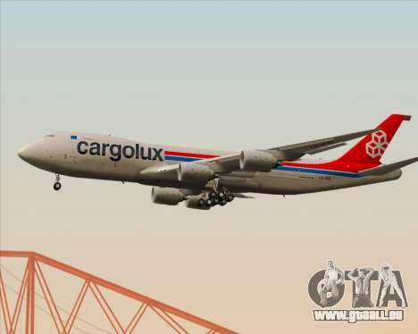 Boeing 747-8 Cargo Cargolux für GTA San Andreas Rückansicht