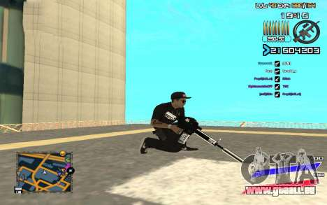 C-HUD by Radion edited SampHack pour GTA San Andreas troisième écran