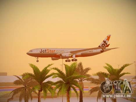 Airbus A330-200 Jetstar Airways pour GTA San Andreas vue de dessous