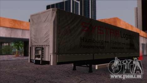 Krone SPD27 Systra Logistik für GTA San Andreas rechten Ansicht