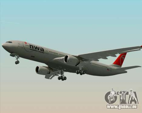 Airbus A330-300 Northwest Airlines pour GTA San Andreas moteur
