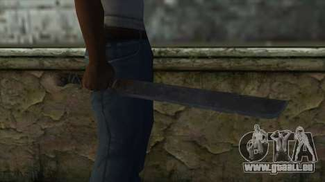 Machete from Assassins Creed 4: Freedom Cry für GTA San Andreas dritten Screenshot