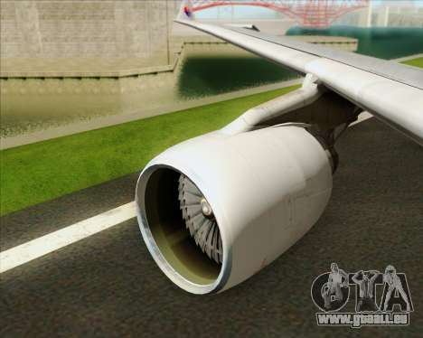 Airbus A330-323 Malaysia Airlines pour GTA San Andreas moteur