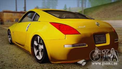 Nissan 350Z Turkey Tuned Drift für GTA San Andreas linke Ansicht