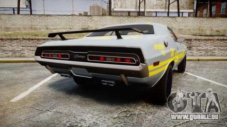 Dodge Challenger 1971 v2.2 PJ4 pour GTA 4 Vue arrière de la gauche
