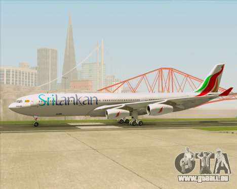 Airbus A340-313 SriLankan Airlines pour GTA San Andreas vue intérieure