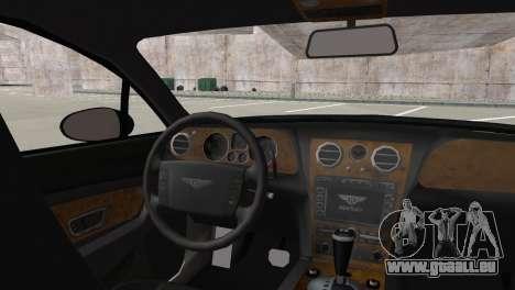 Bentley Continental GT Mansory für GTA San Andreas zurück linke Ansicht