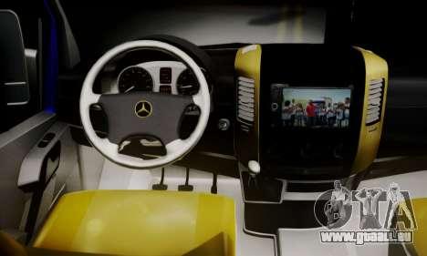 Mercedes-Benz Sprinter Dolmus v2 für GTA San Andreas zurück linke Ansicht