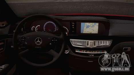 Mercedes-Benz S70 W221 pour GTA San Andreas sur la vue arrière gauche
