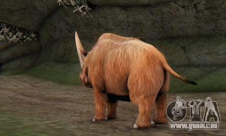 Elasmotherium (Extinct Mammal) pour GTA San Andreas deuxième écran