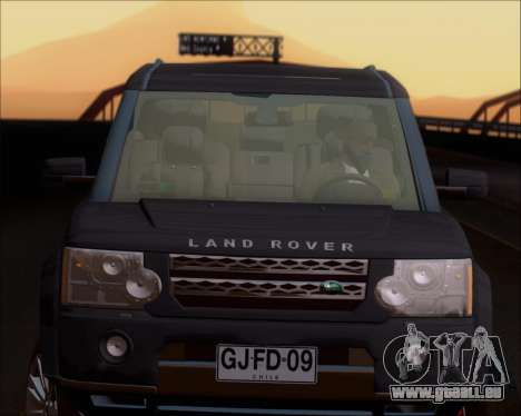 Land Rover Discovery 4 für GTA San Andreas obere Ansicht