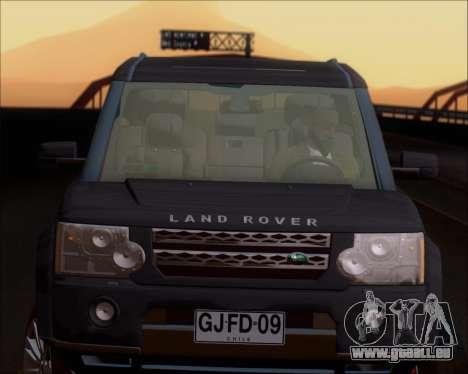 Land Rover Discovery 4 pour GTA San Andreas vue de dessus