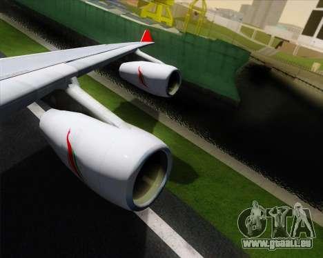 Airbus A340-313 SriLankan Airlines für GTA San Andreas Unteransicht