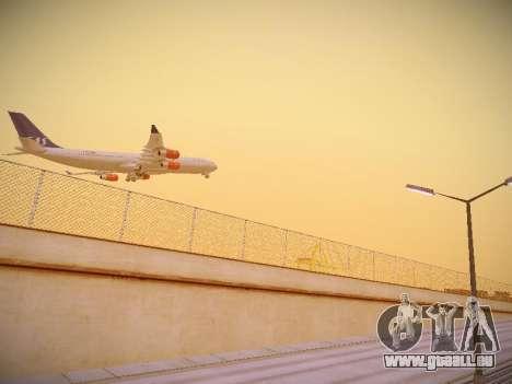 Airbus A340-300 Scandinavian Airlines pour GTA San Andreas vue de droite