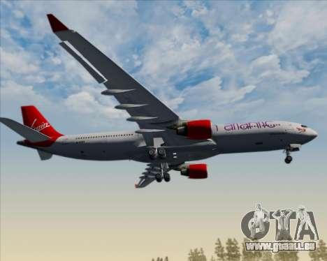Airbus A330-300 Virgin Atlantic Airways für GTA San Andreas Unteransicht