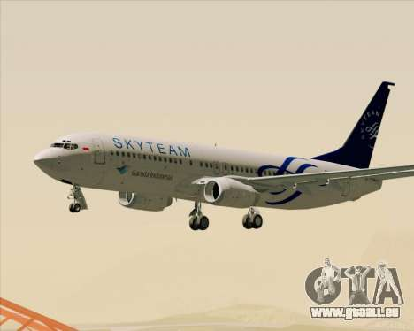 Boeing 737-86N Garuda Indonesia pour GTA San Andreas salon