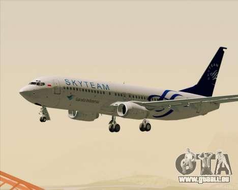 Boeing 737-86N Garuda Indonesia für GTA San Andreas Innen