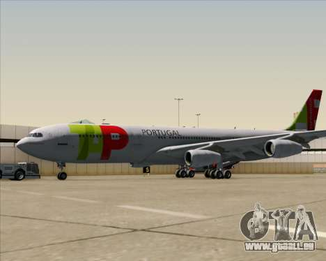 Airbus A340-312 TAP Portugal für GTA San Andreas Rückansicht