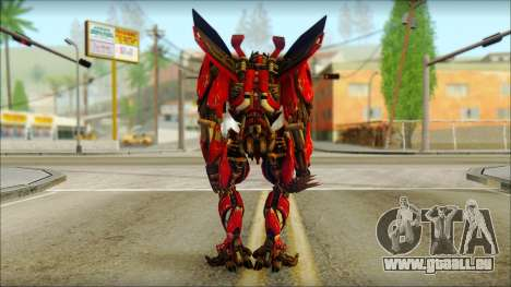 Dino Mirage (transformers Dark of the moon) v2 pour GTA San Andreas deuxième écran