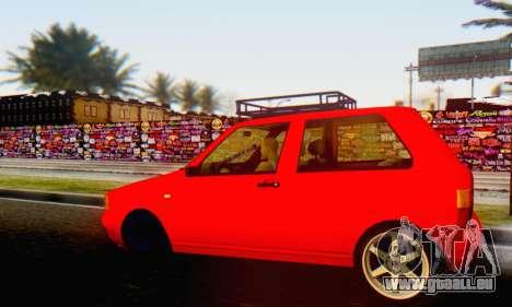 Fiat Uno pour GTA San Andreas sur la vue arrière gauche