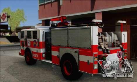 SAFD BRUTE Firetruck pour GTA San Andreas laissé vue