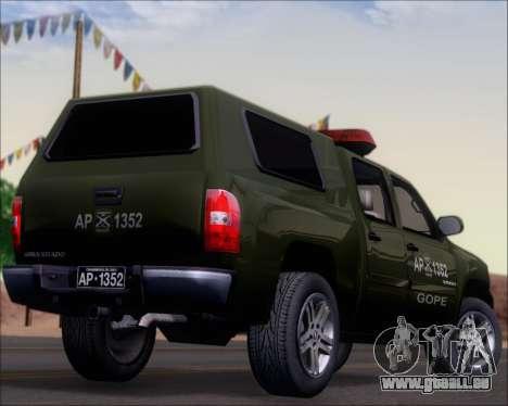 Chevrolet Silverado Gope pour GTA San Andreas vue de dessus
