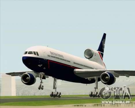 Lockheed L-1011 TriStar British Airways pour GTA San Andreas vue arrière