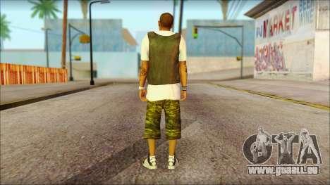 New Grove Street Family Skin v5 pour GTA San Andreas deuxième écran
