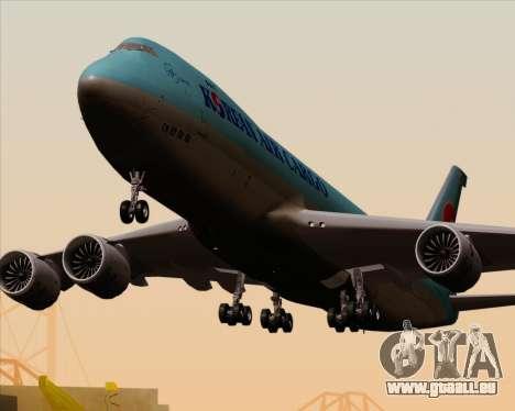 Boeing 747-8 Cargo Korean Air Cargo für GTA San Andreas Räder