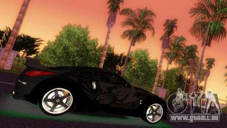 Nissan 350Z Veiside DK pour GTA Vice City sur la vue arrière gauche