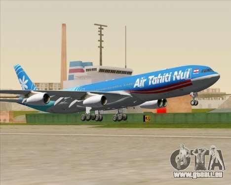 Airbus A340-313 Air Tahiti Nui für GTA San Andreas Innenansicht