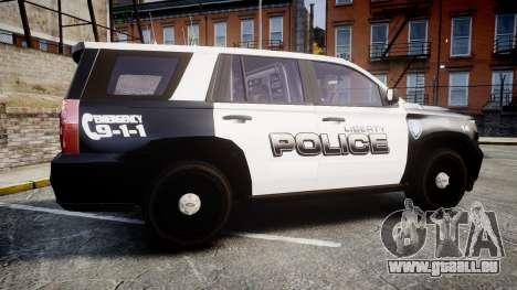 Chevrolet Tahoe 2015 Liberty Police [ELS] für GTA 4 linke Ansicht
