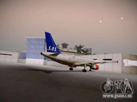 Airbus A319-132 Scandinavian Airlines für GTA San Andreas Rückansicht