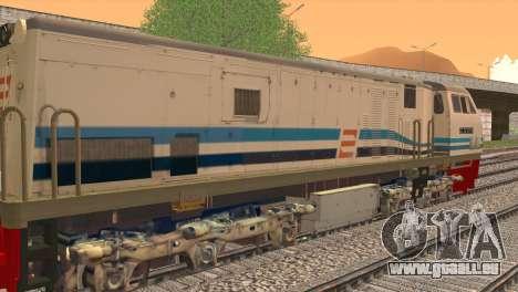 GE U20C CC 203 Old Livery pour GTA San Andreas sur la vue arrière gauche