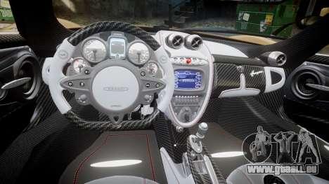 Pagani Huayra 2013 für GTA 4 Innenansicht