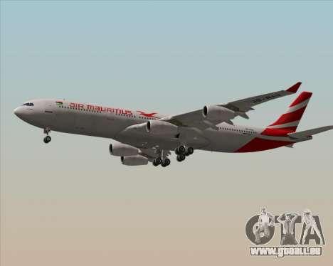 Airbus A340-312 Air Mauritius pour GTA San Andreas vue arrière