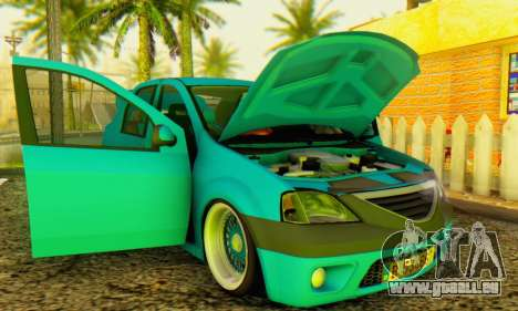 Dacia Logan Elegant für GTA San Andreas Rückansicht