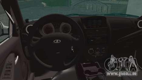Lada Kalina 2 Wagon pour GTA San Andreas sur la vue arrière gauche