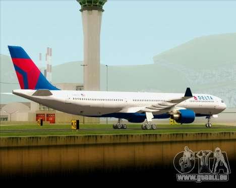 Airbus A330-300 Delta Airlines pour GTA San Andreas sur la vue arrière gauche