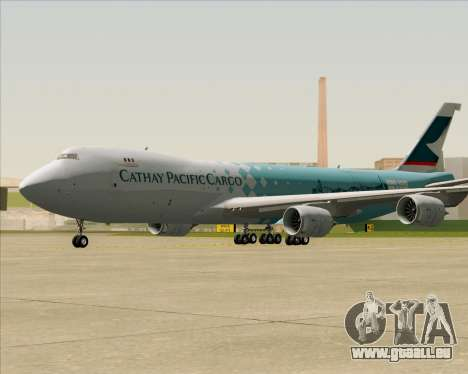 Boeing 747-8 Cargo Cathay Pacific Cargo für GTA San Andreas linke Ansicht