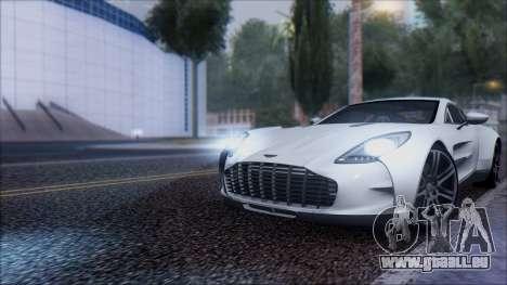 Aston Martin One-77 für GTA San Andreas