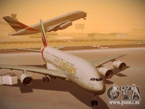Airbus A380-800 Emirates pour GTA San Andreas vue intérieure
