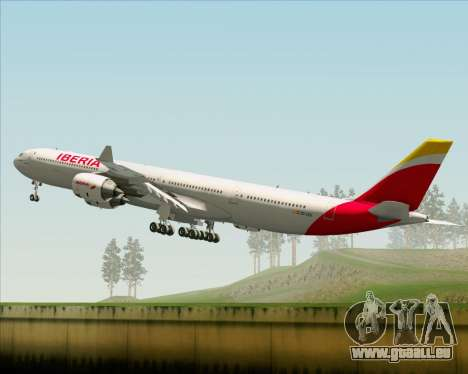 Airbus A340-642 Iberia Airlines für GTA San Andreas obere Ansicht